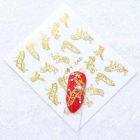 Set 10 miếng dán móng ánh kim Sticker MS .Nail.9