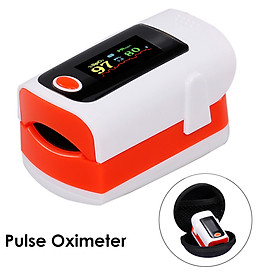 Fingertip Pulse Oximeter Blood Oxygen Saturation Pulse Intensity Monitor SpO2 Monitor LED Color Display Pulse Rate