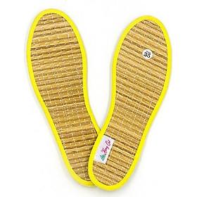 Lót giày quế, sợi chiếu, vải cotton hút ẩm, khử mùi hôi chân, giúp êm chân, ấm chân, phòng cảm cúm, cải thiên sức khỏe CI-11