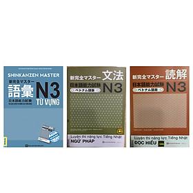 Combo Bộ 3 Cuốn Tài Luyện Thi Năng Lực Tiếng Nhật N3 (Từ Vựng + Ngữ Pháp + Đọc Hiểu) TV