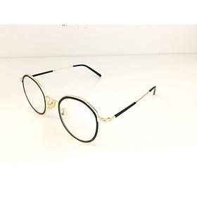 Gọng kính dáng tròn- lục giác kiểu dáng năng động, cá tính- 53108- C2- vàng
