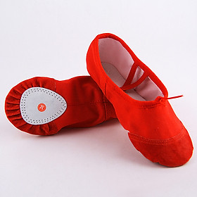 Giày Tập Múa Ba Lê Đế Mềm Thoáng Khí Cho Trẻ Em
