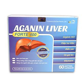 Viên uống bổ gan, tăng cường chức năng gan, giải độc gan, hạ men gan AGANIN LIVER - Hộp 60 viên thành phần cà gai leo, diệp hạ châu