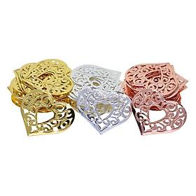 60x Charms Pendants Heart Filigree Embellishments DIY Decoration Creation Supply