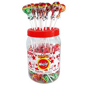 Hình thu nhỏ Kẹo mút Welly Cam - dâu - ổi - cola (594g)