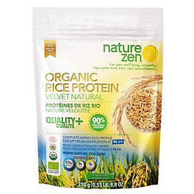 Protein Thực Vật Organic Nature Zen - Giúp Da Đẹp, Tóc Khỏe - Vị Tự Nhiên  250g - Nguồn gốc từ Mầm Gạo Lứt