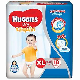 Tã Quần Huggies Dry Gói Trung XL18 (18 Miếng) - Bao bì mới