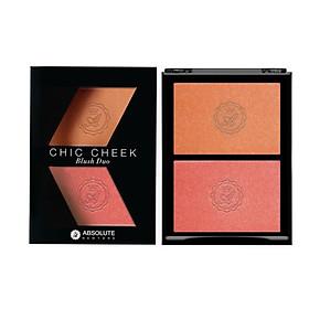 Má Hồng Absolute Newyork Chic Cheek Blush Dou MFBD02 - Peach Fuzz/ Coral Gold (5g)