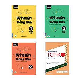 Combo Vitamin tiếng Hàn cho người mới bắt đầu tự học kèm App di dộng và Web ( Vitamin tiếng Hàn 1, 2, 3 + tặng kèm Cẩm nang luyện thi Topik I)