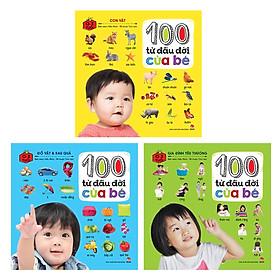 Bộ sách 100 Từ Đầu Đời Của Bé (Bộ 03 Cuốn) - Tặng kèm sổ tay