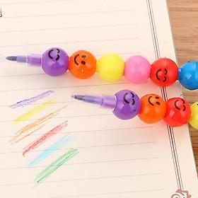 Bút hình 7 viên kẹo màu sắc cảm xúc, bút màu chì và dạ