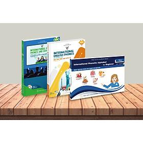 Combo Bộ sách Ngữ âm tiếng anh quốc tế 3 cấp độ Sơ cấp - Trung cấp - Nâng cao (kèm đĩa CD)