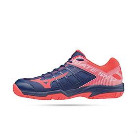 Giày cầu lông nam nữ - giày bóng chuyển nam nữ - giày thể thao mizuno 71GA194061 mẫu mới hàng chính hãng giảm chấn tốt, hỗ trợ khả năng bật nhảy màu đen phối hồng