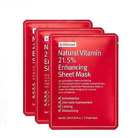 Combo 3 Mặt Nạ Chống Lão Hóa By Wishtrend Natural Vitamin 21.5% Enhancing Sheet Mask 23g x 3