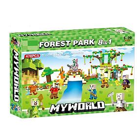 Bộ đồ chơi ghép hình Game My 478 PCS My World LXA304