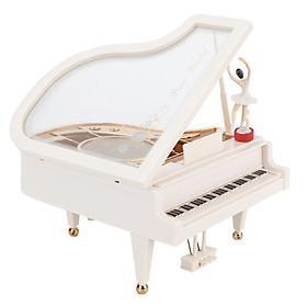 Hộp nhạc đàn Piano trắng kèm người nhảy múa
