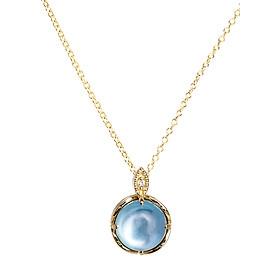 Dây Chuyền Galatea Jewelry Momento Talking Pearl MG-15Y - Xanh Ngọc