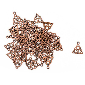 Hot 50 Pcs Triangle Celtic Knot DIY Making Charms Pendant Accessories