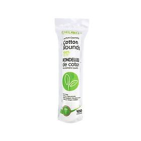 Hộp 100 miếng Bông tẩy trang cao cấp DELON từ thiên nhiên - DELON Premium Cosmetic Cotton Rounds