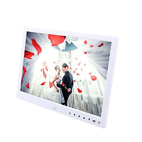 Digital Picture Frame 13inch LED Screen HD Resolution Display Support Auto Play with Infrared Remote Control