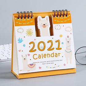Lịch Để Bàn 2021 Square Hoạt Hình Siêu Dễ Thương Ver. 2( Lịch Đa Năng Ghi Chú Kế Hoạch To Do List)