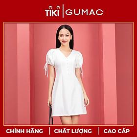 Đầm nữ thiết kế tay nơ nút ngọc GUMAC DA9243