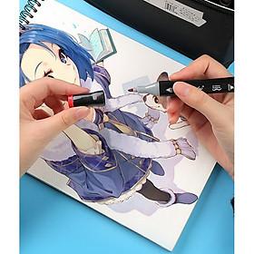 Bộ bút màu Marker TOUCH COLOR cao cấp - Tặng sổ vẽ và 2 bút