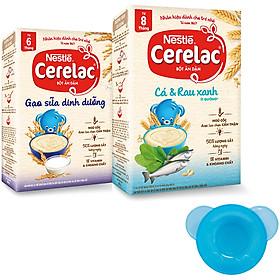 2 Hộp Bột Ăn Dặm Nestlé CERELAC Gạo Lức Trộn Sữa Và Cá Và Rau Xanh - Tặng Bộ Chén Ăn Dặm Màu Ngẫu Nhiên