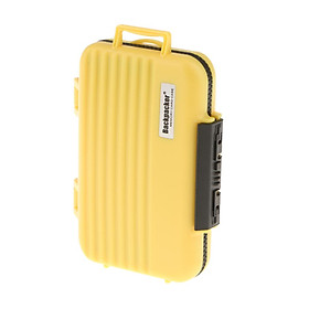 24 Slots Memory Card Case Carrying Holder Storage Box for CF Cards & TF Cards & SD Cards - Yellow