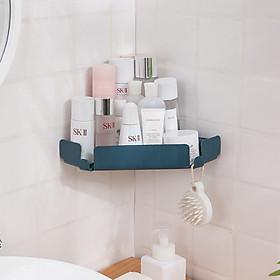 Kệ nhà tắm bền đẹp dán tường, giá đựng đồ đa năng không cần khoan tường siêu tiện dụng - giao màu ngẫu nhiên