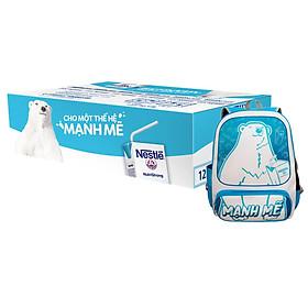 1 Thùng Sữa nước Nestlé có đường 180ml Tặng Balo Gấu Mạnh Mẽ
