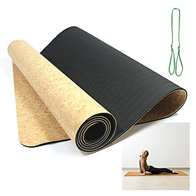 Cork Yoga Mat Natural Cork Mat Anti-slip Exercise Mat Travel Mat-3