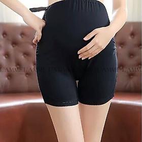 Quần mặc trong váy bầu có chun rút nhiều nấc mát lịm, co giãn tốt cực phù hợp cho mẹ bầu thiết kế bởi LAMME