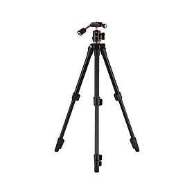 Giá Đỡ Ba Chân Andoer Q160S Hợp Kim Nhôm Thiết Kế Khóa Lật Cho Máy Ảnh Cannon Nikon Sony Pentax DSLR ILDC Đen (Vít Gắn 1/4 Inch) (Tải Trọng Tối Đa 3kg) (Chiều Cao 122cm)