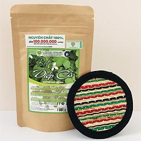 Bột diếp cá nguyên chất Mẹ Ken 100gr (hỗ trợ giảm mụn viêm, giúp se khít chân lông, giải nhiệt) tặng kèm miếng lót ly