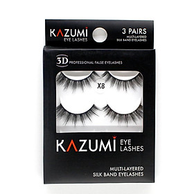 Lông mi chồn 3D Kazumi Mã X8