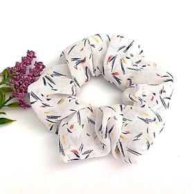Cột tóc vải Scrunchies hoa văn cao cấp