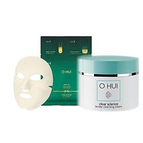 Combo Kem massage cấp ẩm OHUI Clear Science Tender và Mặt nạ chống lão hóa Prime Advancer