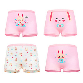 Set 4 quần chip đùi cho bé gái 2-12 tuổi chất cotton mềm mại co giãn tốt họa tiết theo chủ đề đủ màu sắc đáng yêu - C015