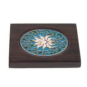 Piece Wooden Drink Coaster Mat