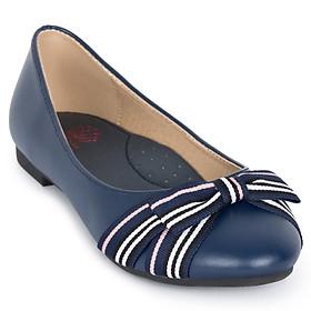 Giày búp bê bé gái Crown Space Crown UK Princess Ballerina CRUK3103 - Màu xanh navy