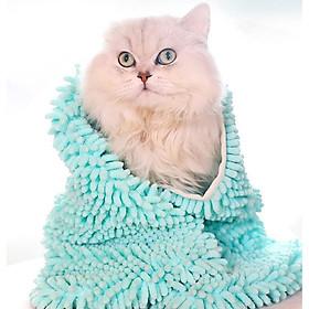 Khăn tắm cao cấp cho thú cưng kiểu choàng vào thú cưng Kún Miu