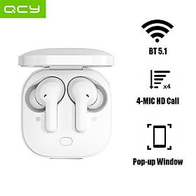 Tai nghe không dây QCY T13 TWS BT5.1 Tai nghe không dây với 4 Mic giảm tiếng ồn / Cửa sổ bật lên Kết nối nhanh / Máy chủ kép / Cảm ứng