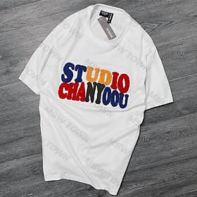 Áo thun tay cộc thêu nổi, áo phông cotton cao cấp