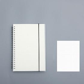 Sổ lò xo bìa trong suốt cỡ A5 180 trang