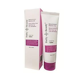 Gel tẩy da chết mặt Daily Beauty Brightening Peeling Gel R&B xuất sứ LB Cosmetic Hàn Quốc, chiết xuất 100% tự nhiên, tẩy sạch hiệu quả, an toàn, dịu nhẹ với da, 120ml