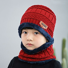 Mũ len kèm khăn cho bé