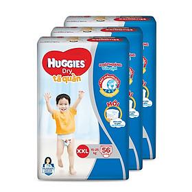 Combo 3 Tã quần Huggies Dry Pants Super Jumbo XXL56 (trên 16kg)  - Gói 56 miếng