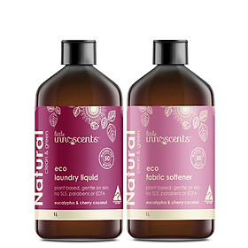 Bộ 2 chai Nước giặt và Nước xả vải Little Innoscents Eco Laudry Liquid and Fabric Softener