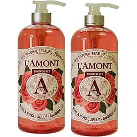 Combo 2 Sữa Tắm L'amont En Provence Rose (Hoa Hồng) Shower Gel 1000ml